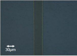 ガラス上の導電膜除去加工事例:㈱リプス・ワークス