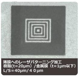 薄膜へのレーザパターニング:(株)リプス・ワークス