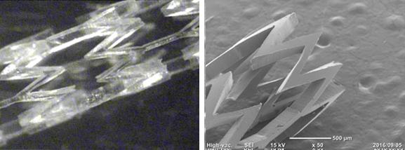 フッ素樹脂(LM-ETFE)へのステント形状加工②:㈱リプス・ワークス