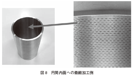 図8 円筒内面への微細加工例