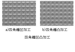 四角錘凹凸加工:㈱リプス・ワークス