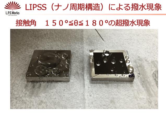 LIPSS(ナノ周期構造)による浸水現象:㈱リプス・ワークス